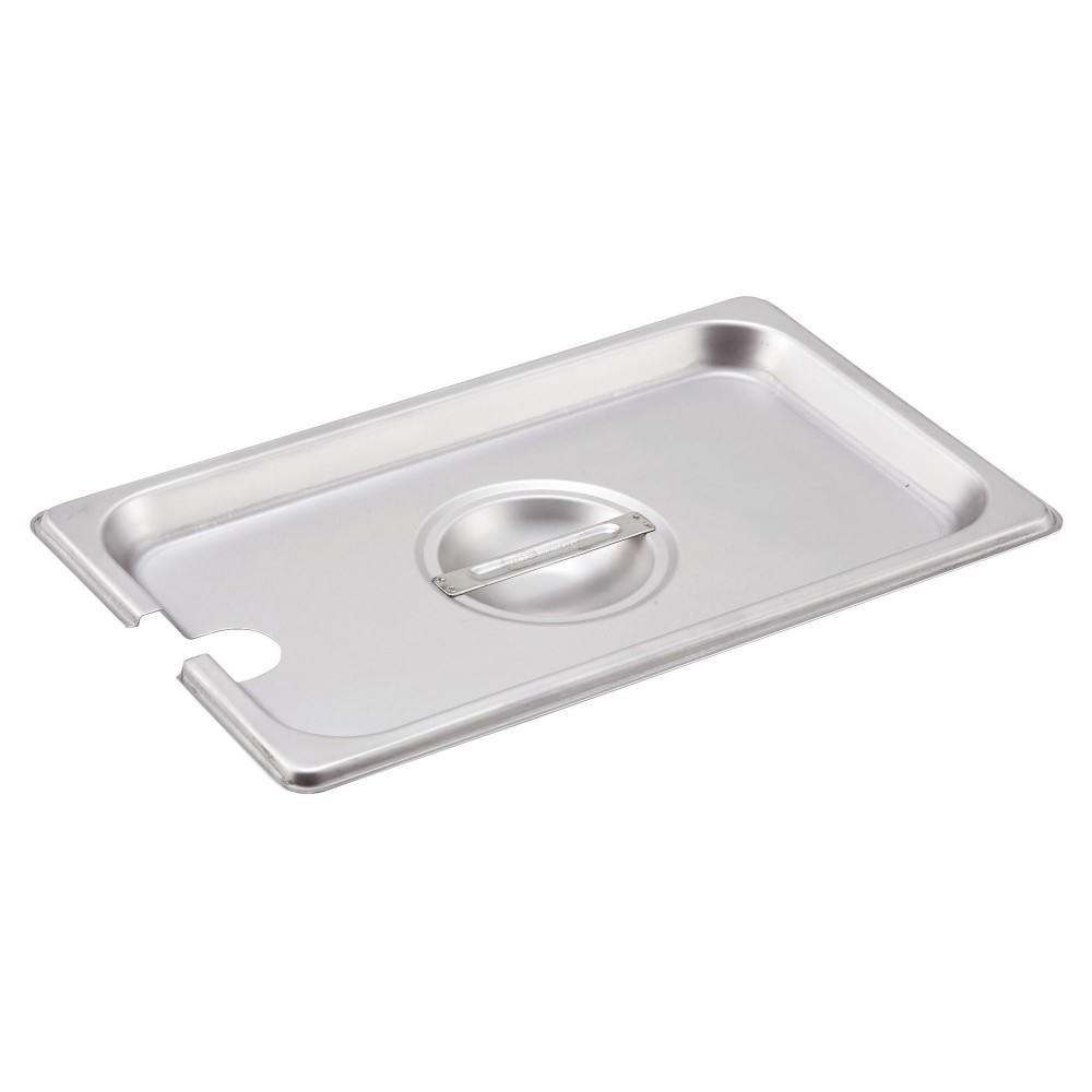 Winco spcq Slotted Stainless Steel One-Fourth Size Steam Table Pan Cover