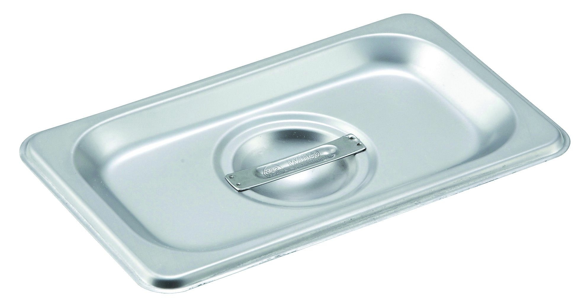 Slotted Stainless Steel One-Ninth Size Steam Table Pan Cover