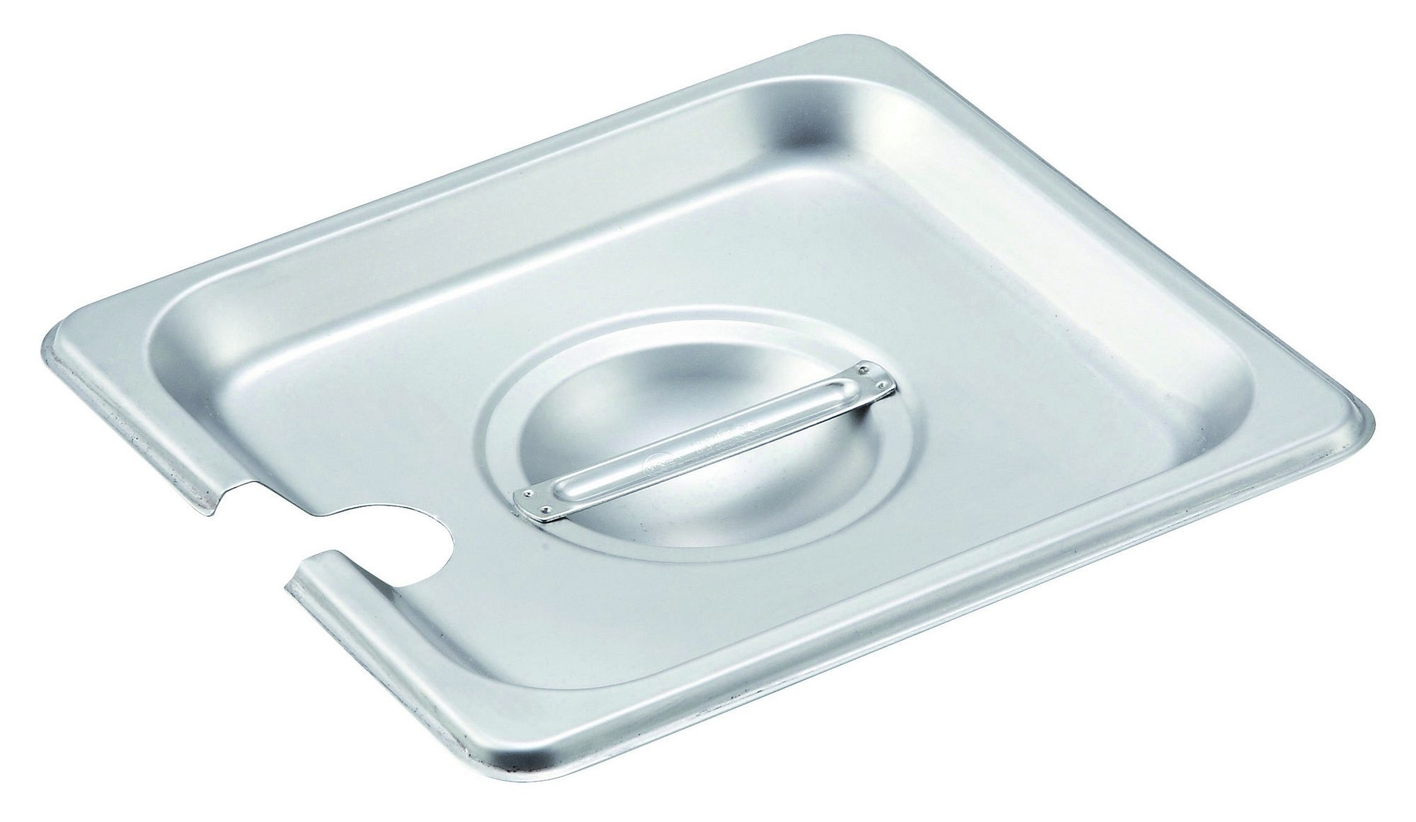 Winco SPCS Slotted Stainless Steel One-Sixth Size Steam Table Pan Cover