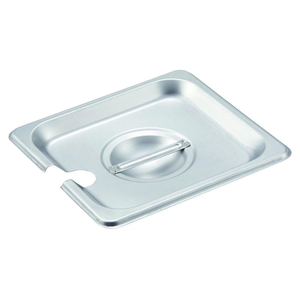 Slotted Stainless Steel One-Sixth Size Steam Table Pan Cover