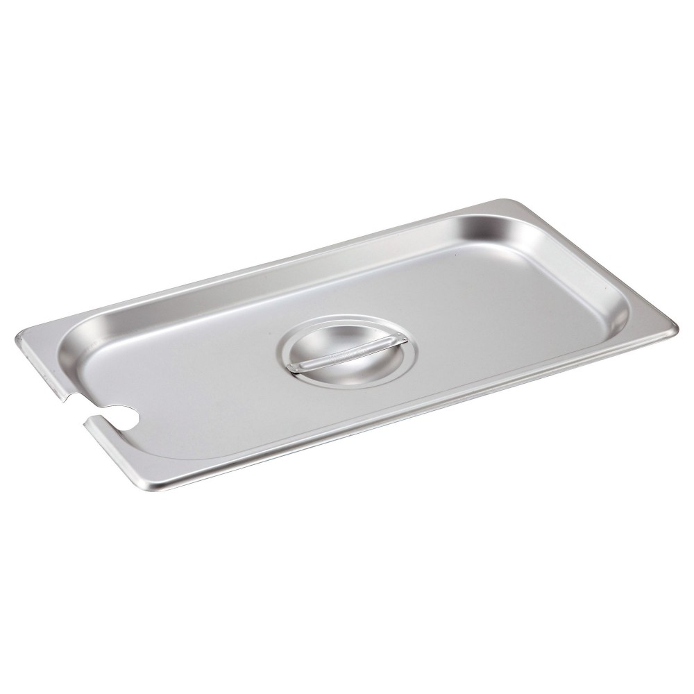 Winco SPCT Slotted Stainless Steel One-Third Size Steam Table Pan Cover