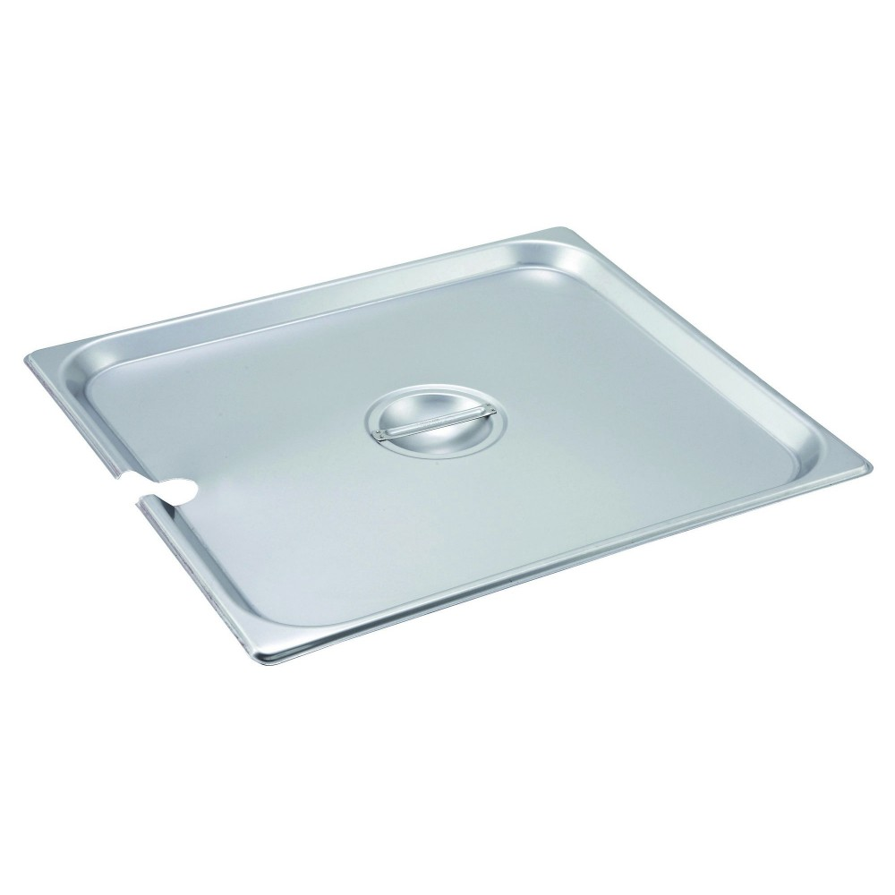 Winco SPCTT Slotted Stainless Steel Two-Third Size Steam Table Pan Cover