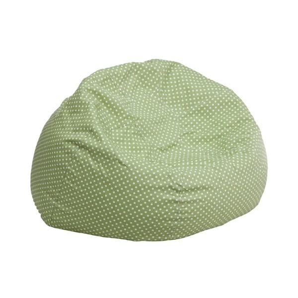 Flash Furniture dg-bean-small-dot-grn-gg Small Green Dot Kids Bean Bag Chair