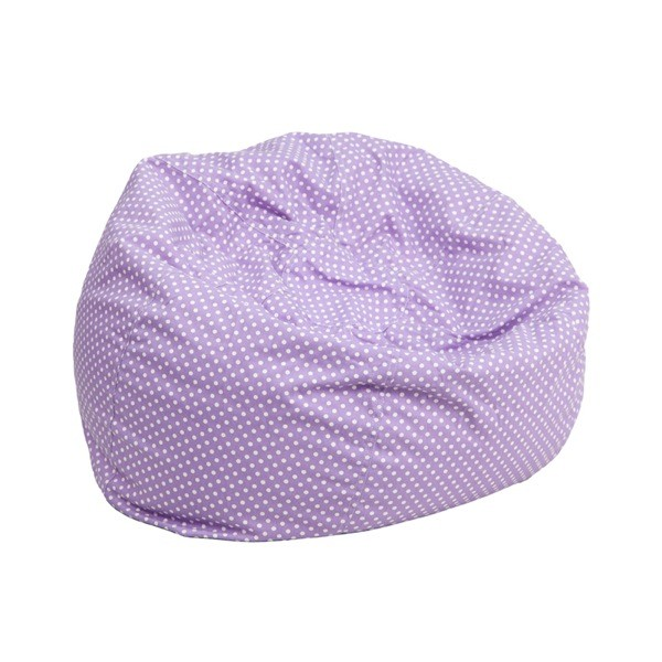 Flash Furniture DG-BEAN-SMALL-DOT-PUR-GG Small Lavender Dot Kids Bean Bag Chair