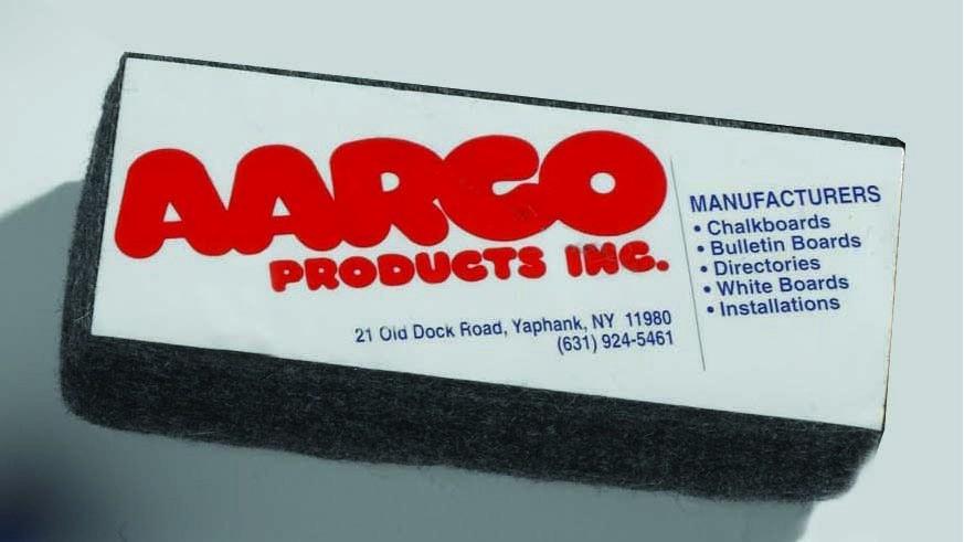 Aarco Products E2 Felt Chalkboard Eraser, 1.5''W x 4''H x 1''D