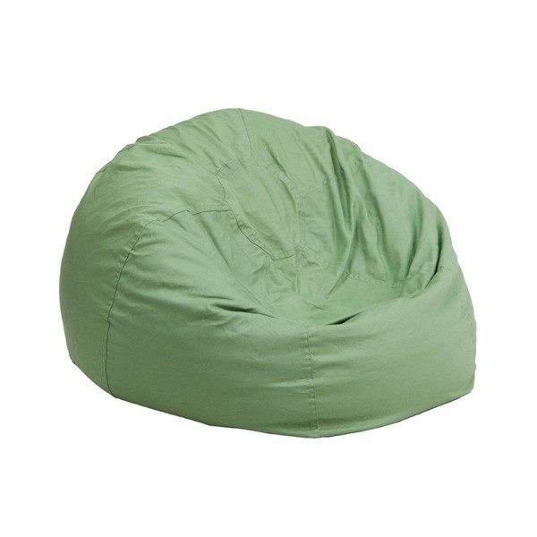 Flash Furniture DG-BEAN-SMALL-SOLID-GRN-GG Small Solid Green Kids Bean Bag Chair