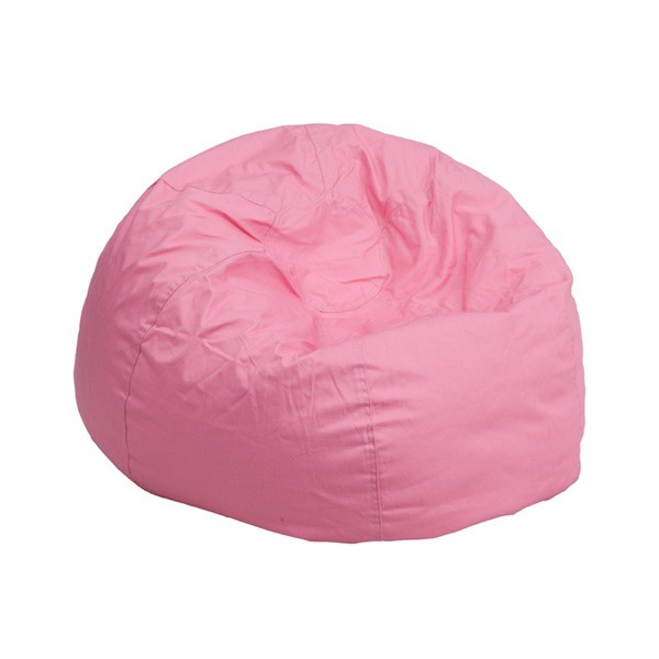 Flash Furniture DG-BEAN-SMALL-SOLID-PK-GG Small Solid Light Pink Kids Bean Bag Chair