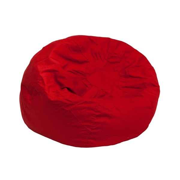 Flash Furniture dg-bean-small-solid-red-gg Small Solid Red Kids Bean Bag Chair