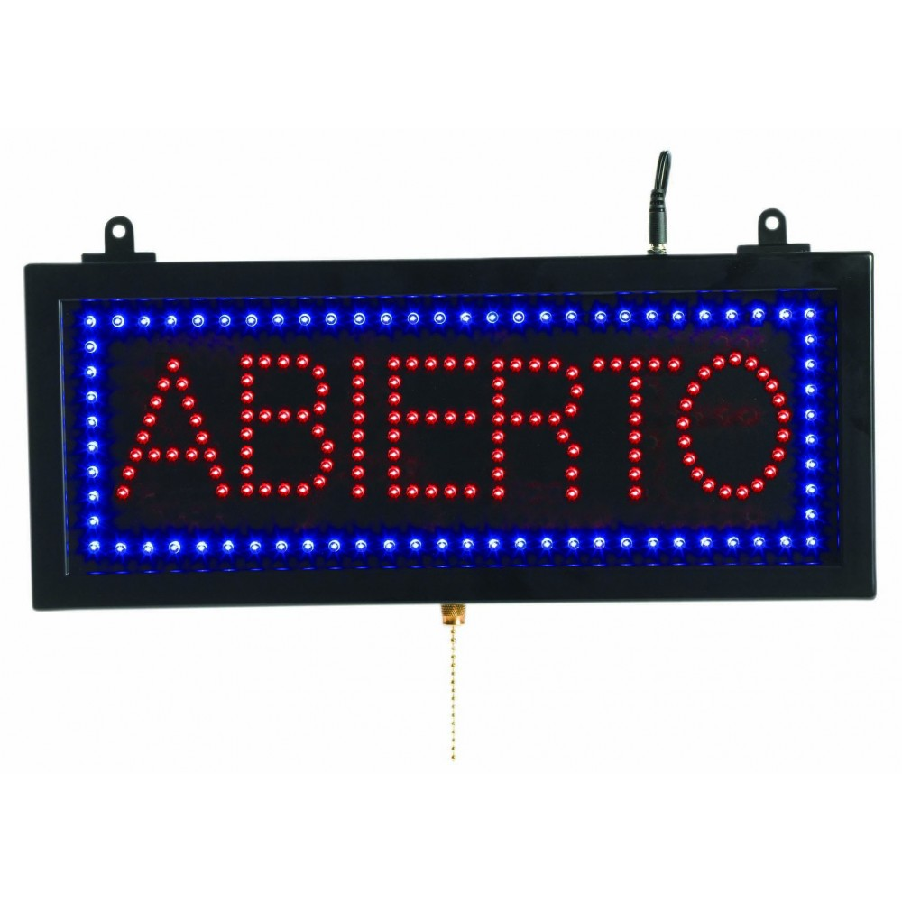 Small Spanish LED Sign Abierto (Open)