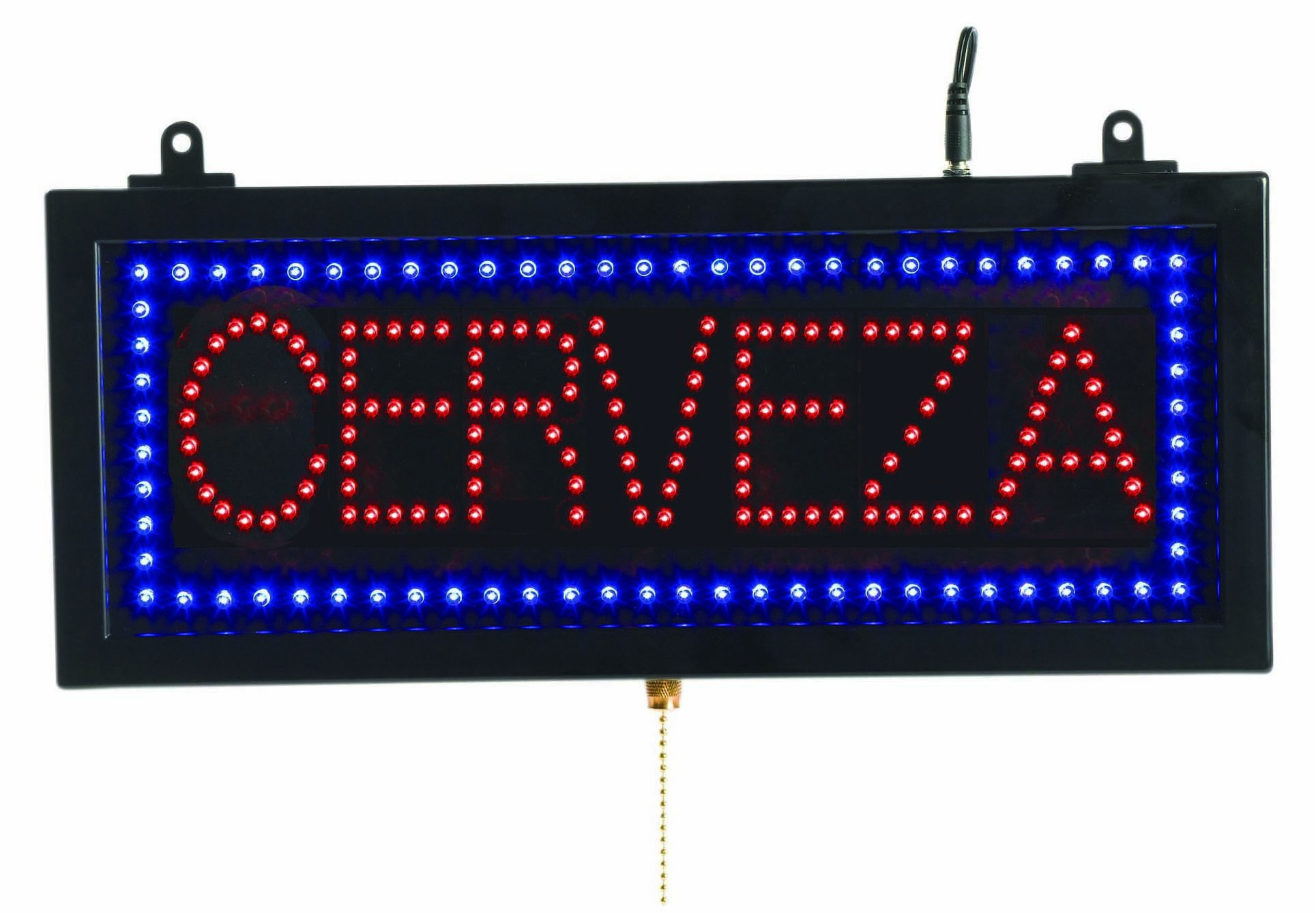 Aarco Products CER07S Small Spanish LED Sign Cerveza (Beer)