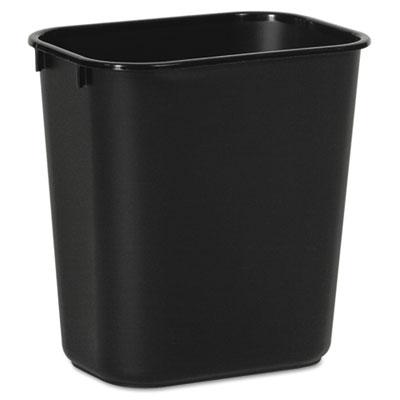 Soft-Sided Wastebasket, 14 qt, Plastic, Black