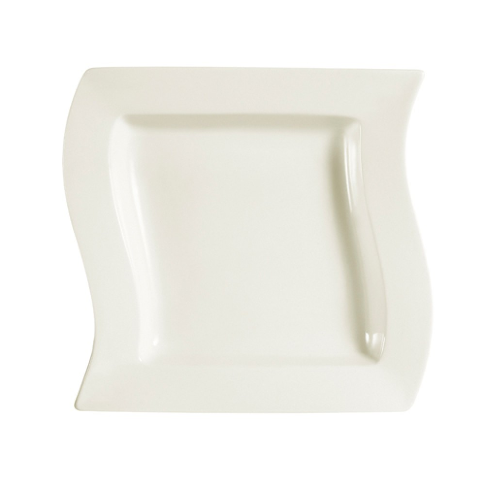 Soho Pattern Bone White 12 Oz. Square Soup Plate - 8-1/2