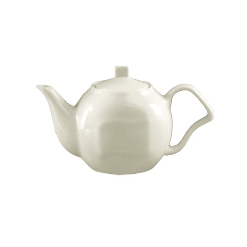 Soho Pattern Bone White 15 Oz. Tea Pot