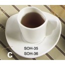 CAC China SOH-35 Soho American White A.D. Cup 3-1/2 oz.