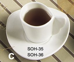 Soho Pattern Bone White 3-1/2 Oz. A.D. Cup