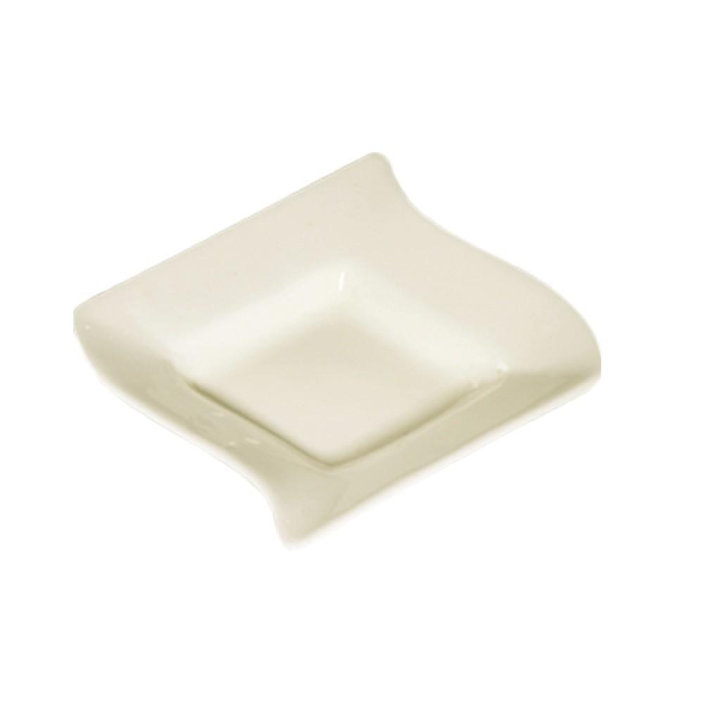 Soho Pattern Bone White 6 Oz. Fruit Square - 5