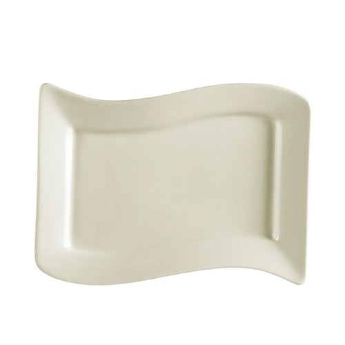 "CAC China SOH-13 Soho American White Rectangular Platter, 12"" x 8"""
