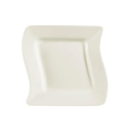"CAC China SOH-7 Soho American White Square Plate 7-1/2"""
