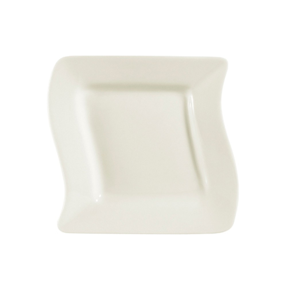 Soho Pattern Bone White Square Plate - 6-3/4