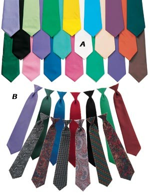 Solid Color Poly Satin Straight Tie