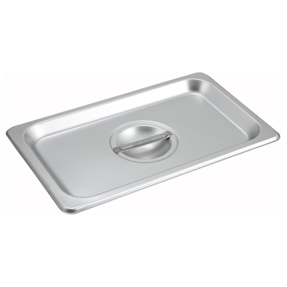 Solid Stainless Steel 1/4 Size Steam Table Pan Cover
