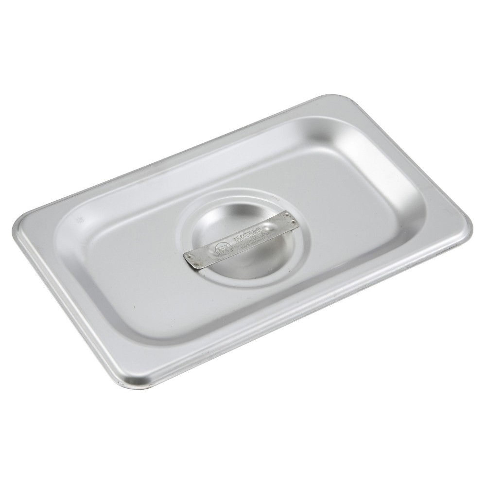 Solid Stainless Steel 1/9 Size Steam Table Pan Cover