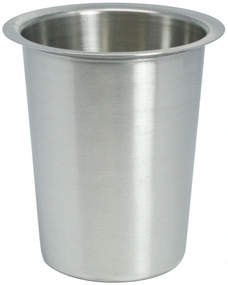 """Winco FC-SL Solid Stainless Steel Flatware Cylinder 4-1/2"""""""