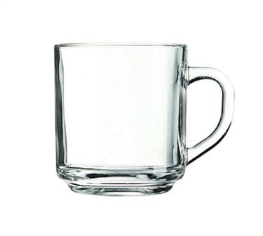 Solid-looking 10 Oz. Marly Coffee Mug In Tempered Glass