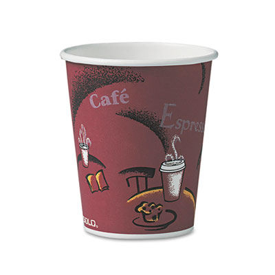 Solo Bistro Design Hot Drink Cups, Paper, 10oz, 50/Pack