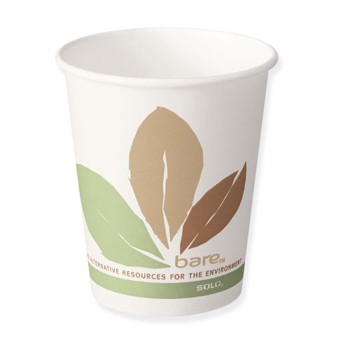 Solo Cup Bare Eco-Forward Paper Hot Cups, 10 oz., Bare Design, 50/Bag (Box of 20)