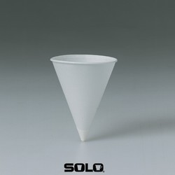 Solo Cup Cone Water Cups, Paper, 4.25 oz., Rolled Rim, Whites, 200/Bag (Box of 5000)