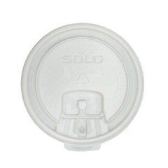 Solo Cup Liftback & Lock Tab Cup Lids for Foam Cups, 10 oz, White (Box of 1000)