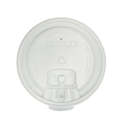 Solo Cup Liftback & Lock Tab Cup Lids for Foam Cups, 16 oz, White (Box of 1000)