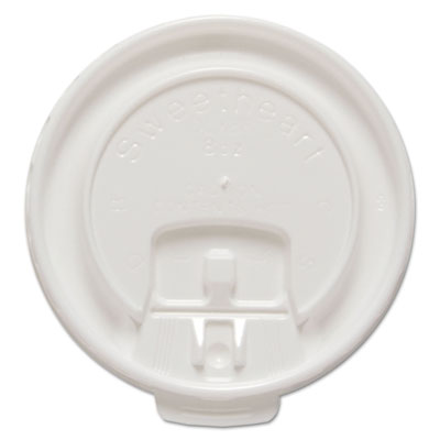Dart Lift Back and Lock Tab Cup Lids for 8 oz. Trophy Foam Cups, 100/Pack