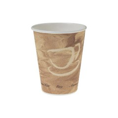 Solo Cup Mistique Polycoated Hot Paper Cup, 8 oz., Printed, Brown, 50/Bag (Box of 1000)