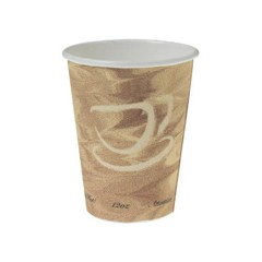 Solo Cup Mistique Polycoated Hot Paper Cup, 12 oz., Printed, Brown, 50/Bag (Box of 1000)