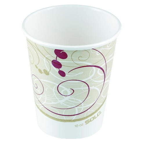 Solo Cup Paper Hot Cups, Polylined, 6 oz., Symphony Design, Beige/White, 50/Bag (Box of 1000)