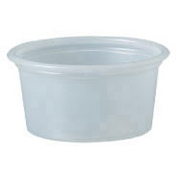 Solo Cup Plastic Souffle Portion Cups, 3/4 oz., Translucent, 250/Bag (Box of 5000)