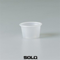 Solo Cup Plastic Souffl� Portion Cups, 1/2 oz., Translucent, 250/Bag (Box of 5000)