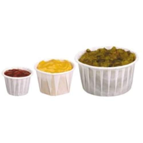 Solo Cup SOLO 1.25 Oz Paper Souffle Cup, Unprinted (Box of 5000)