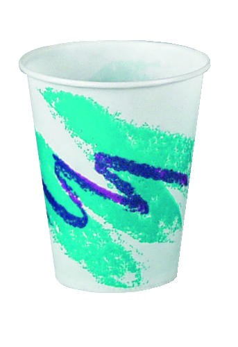 Solo Cup SOLO 10 Oz Waxed Cold Cup - Jazz Design (Box of 2000)
