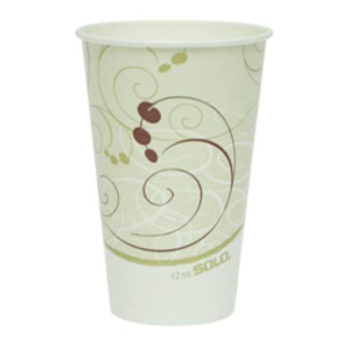 Solo Cup SOLO 12 Oz Double Poly-coated Cold Cups - Symphony Design (Box of 2000)