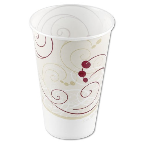 Solo Cup SOLO 12 Waxed Paper Cold Cups- Symphony Design (Box of 2000)