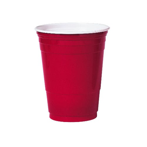 Solo Cup SOLO 16 Oz Red Plastic Party Cup (Box of 1000)