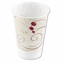 Solo Cup SOLO 16 Oz Waxed Paper Cold Cup - Symphony Design (Box of 1000)