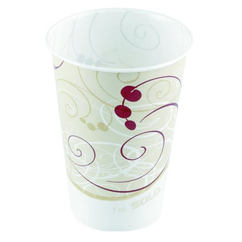 Solo Cup SOLO 5 Oz Waxed Paper Cold Cups - Symphony Design (Box of 3000)