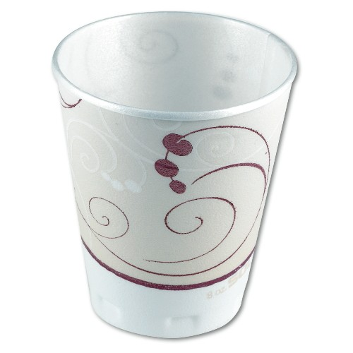 Solo Cup SOLO 8 Oz Trophy Foam Cup - Symphony Design (Box of 1000)