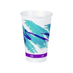Solo Cup SOLO Foam Cup with Jazz Design 16 Oz (Box of 750)