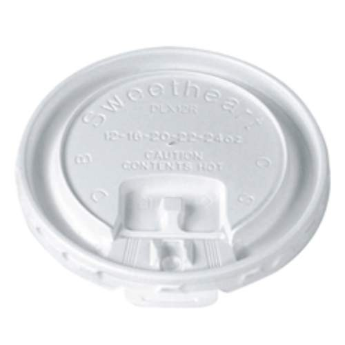 Solo Cup SOLO Sip and Straw-Slotted Translucent Lid Combo for 12 Oz Cup (Box of 2000)