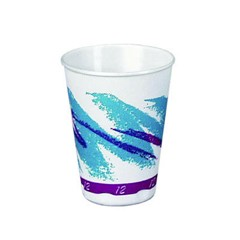 Solo Cup SOLO Trophy Foam Cup with Jazz Design 8 Oz (Box of 1000)